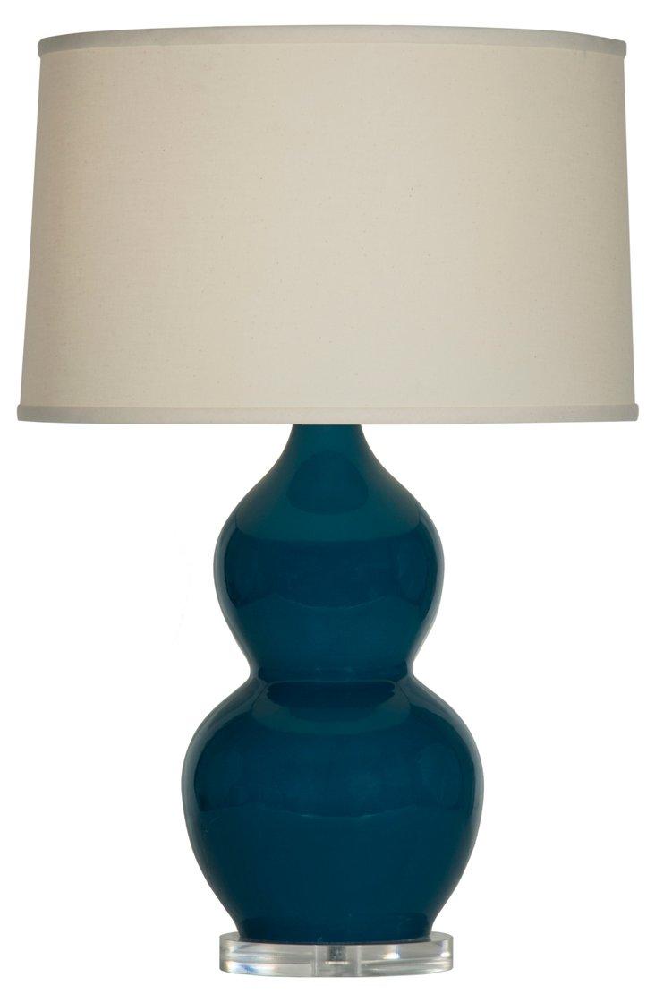 Emily Table Lamp, Emerald Gloss