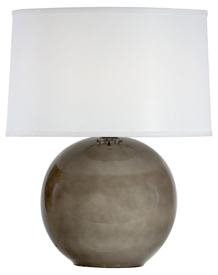 Sphere Table Lamp, Smoke Gray