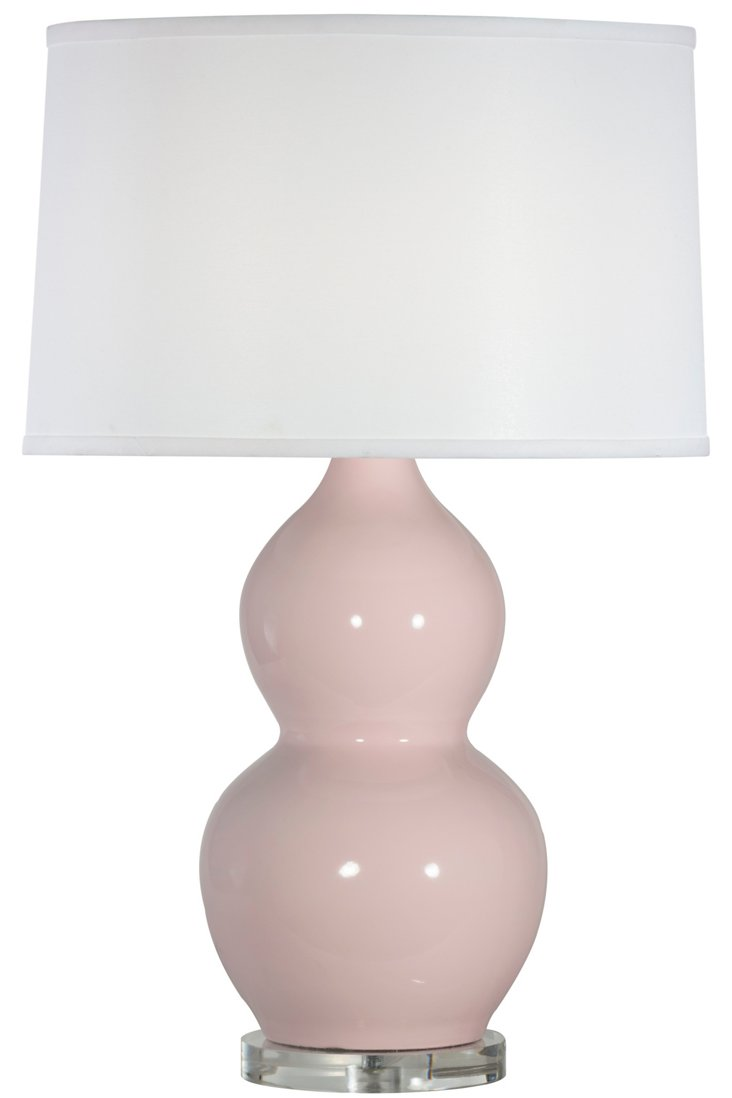 Emily Table Lamp, Rose Gloss