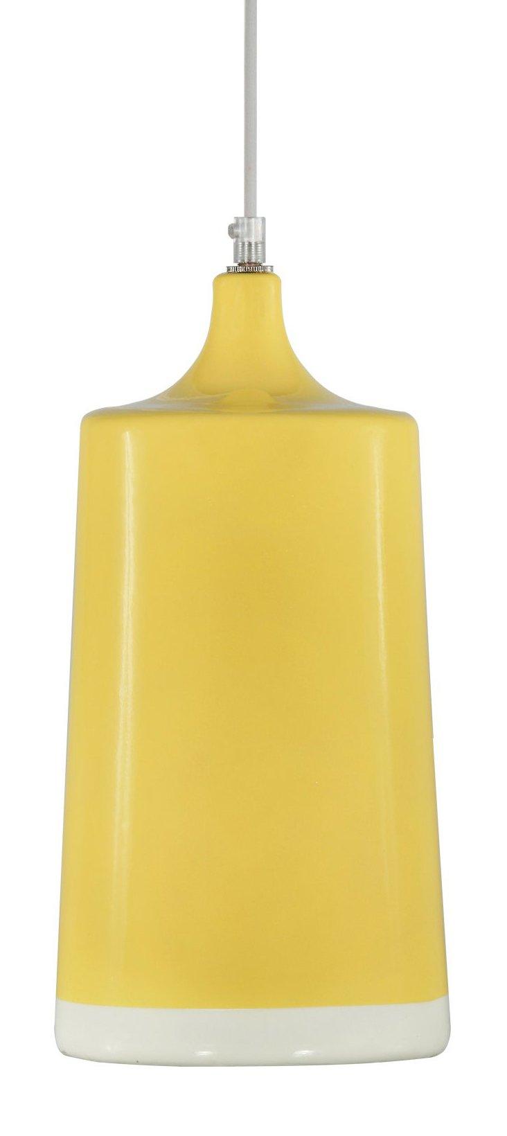 Paloma Ceramic Pendant, Yellow