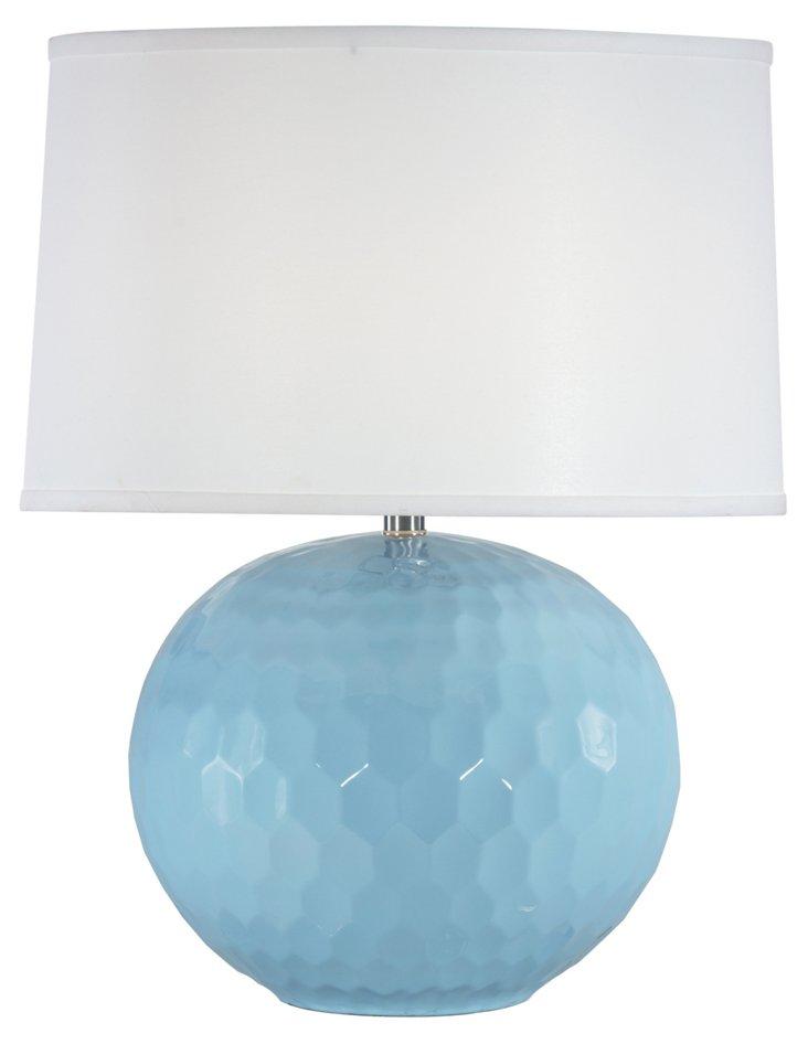 Frances Table Lamp, Dusk Blue