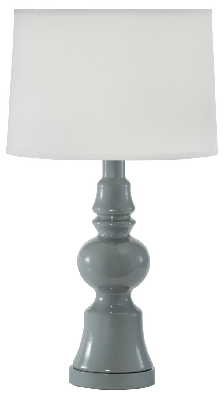 Aroura Table Lamp, Gray Agate