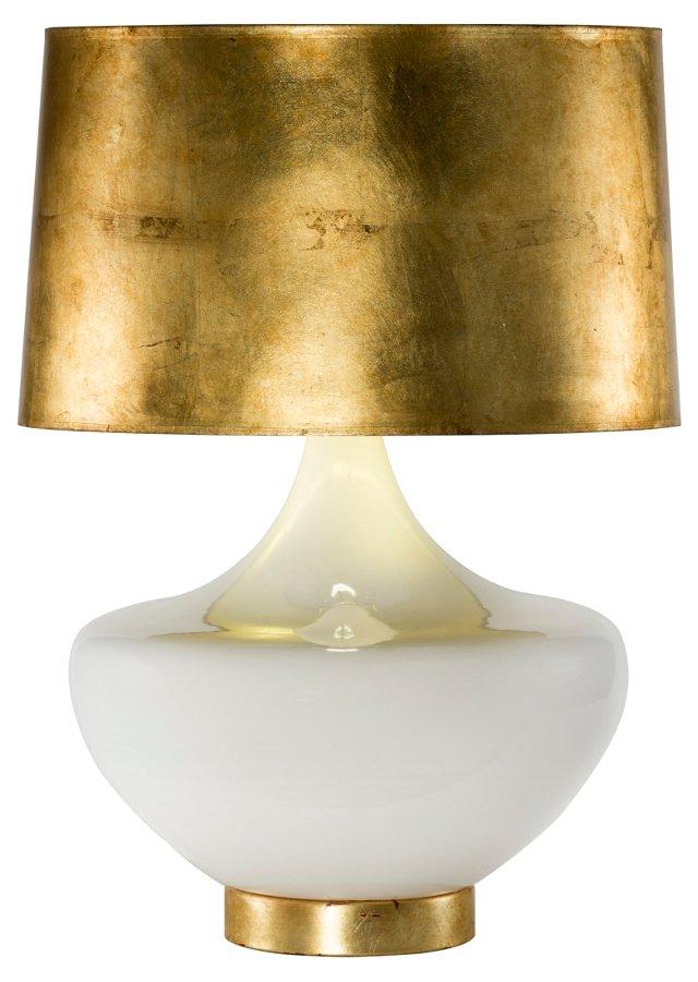 Arden Table Lamp, Gold Leaf