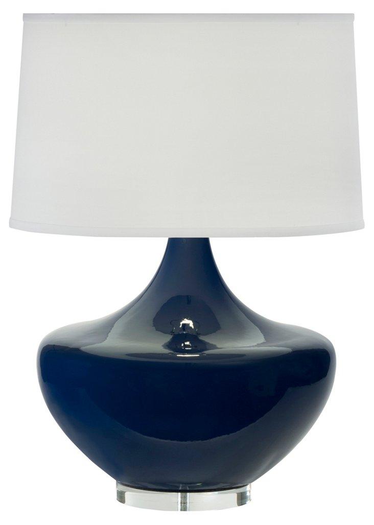 Arden Table Lamp, Sapphire Blue