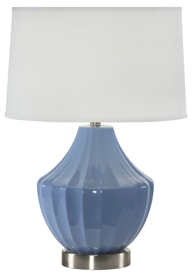 Reiley Table Lamp, Cornflower Blue