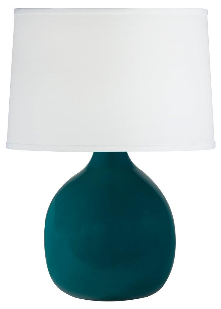 Small Teardrop Table Lamp, Teal