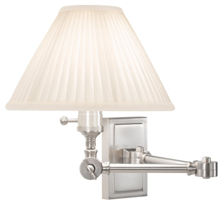 Ant Bee Swing-Arm Sconce, Nickel