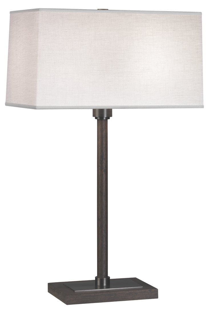 Adaire Table Lamp, Ebony Wood