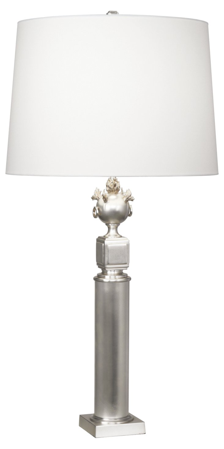 Leopold Table Lamp, Antiqued Silver