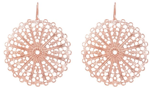 Rose Gold Lace Earrings