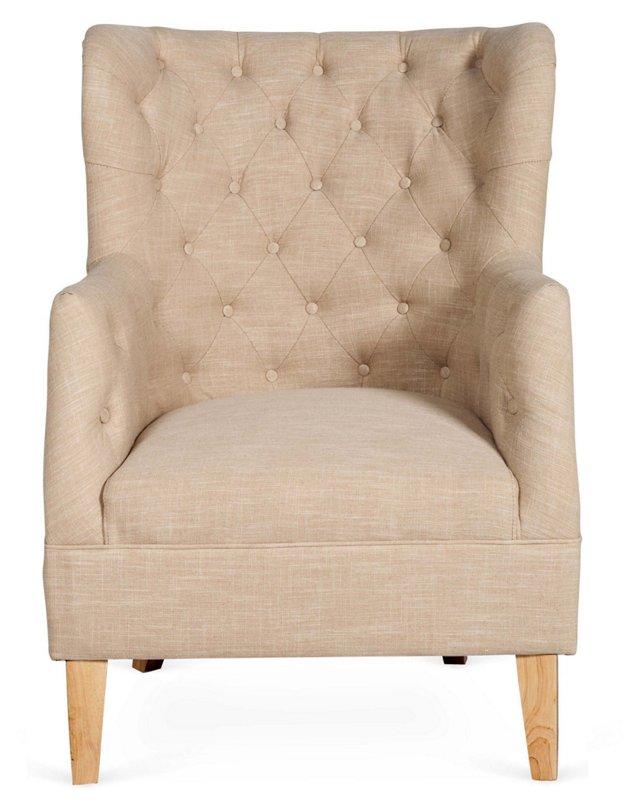 Zachary Bergère Wingback Chair