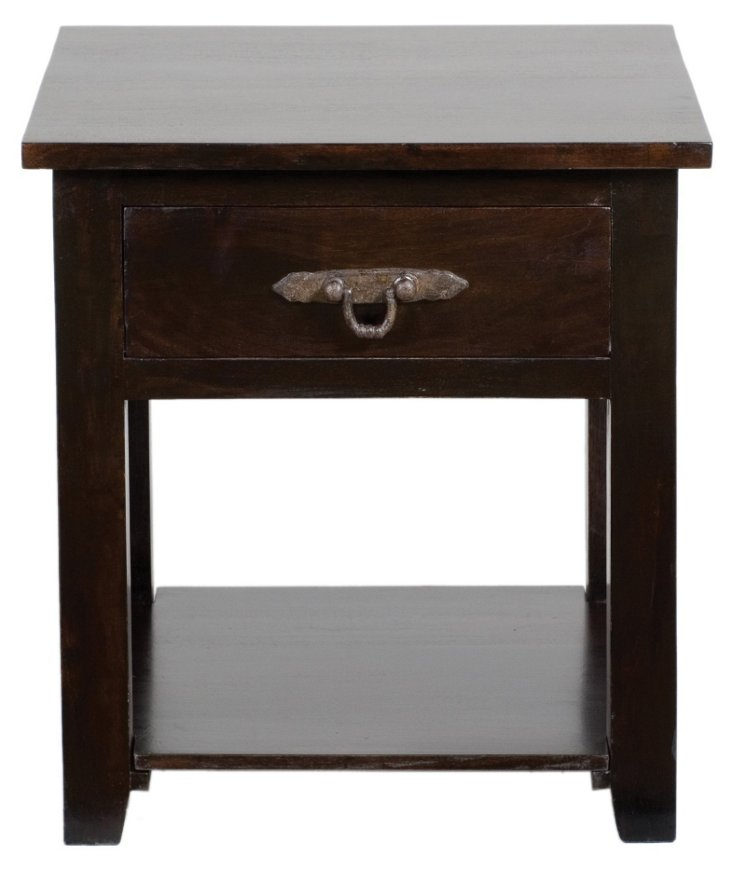 Roman Nightstand, Brown
