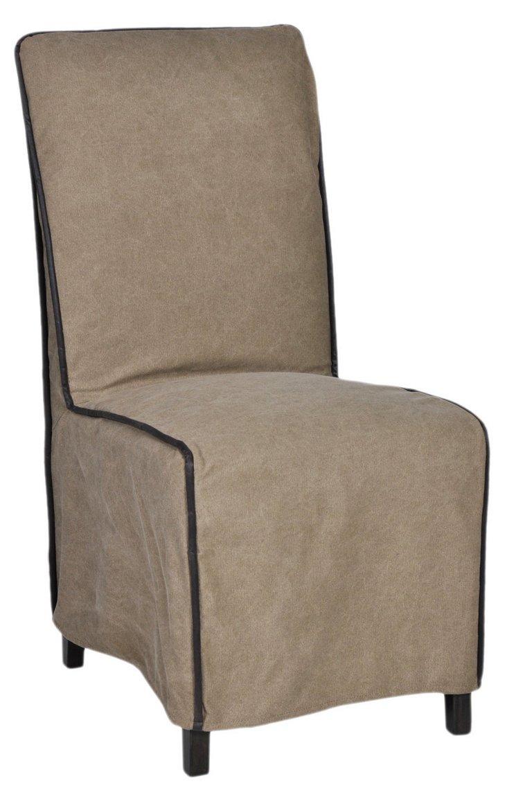 Cromwell Side Chair, Khaki