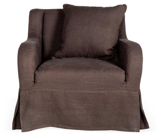 Wilshire Club Chair, Chocolate