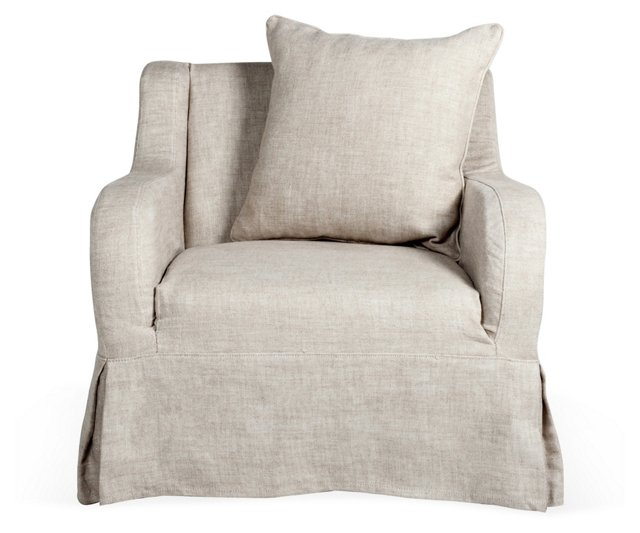 Wilshire Club Chair, Dove Gray