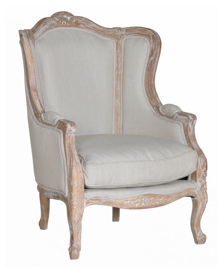 Charlotte Bergère Wingback Chair