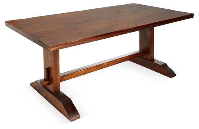 """Gail 78"""" Dining Trestle Table"""