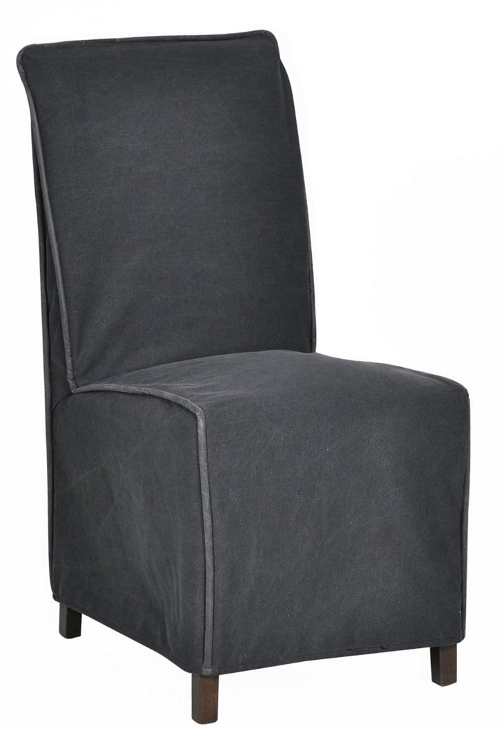 Cromwell Side Chair, Charcoal
