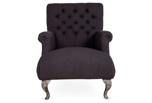 Kingston Club Chair, Graphite