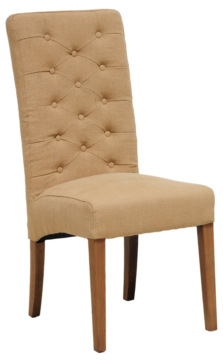 Soho Jute Side Chair, Tan