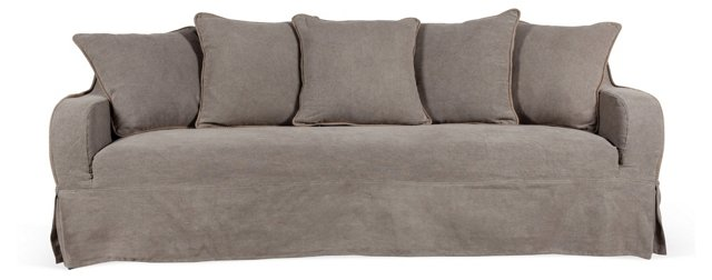 "Wilshire 90"" Sofa, Dark Pebble"