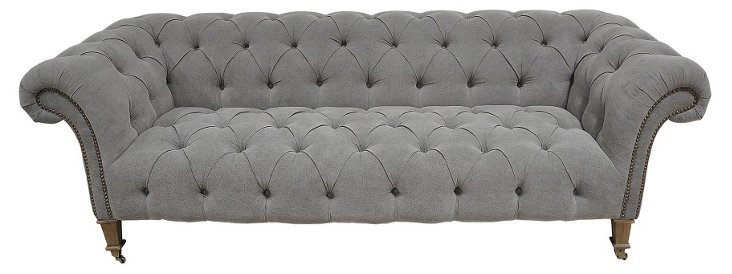 """Finley 88"""" Sofa, Slate"""