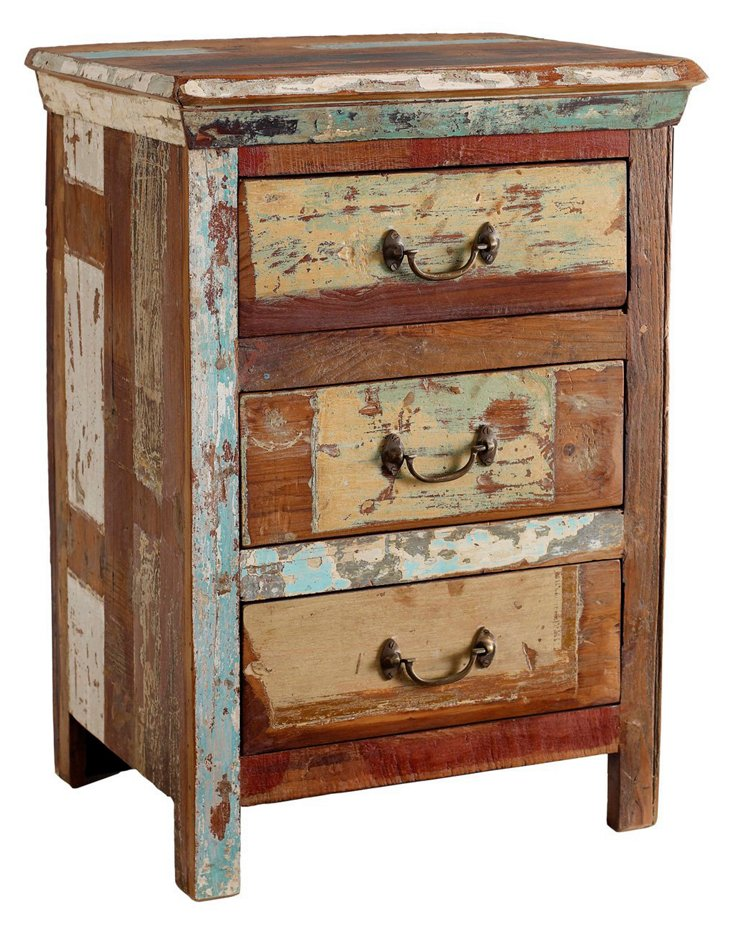 Julian 3-Drawer Nightstand