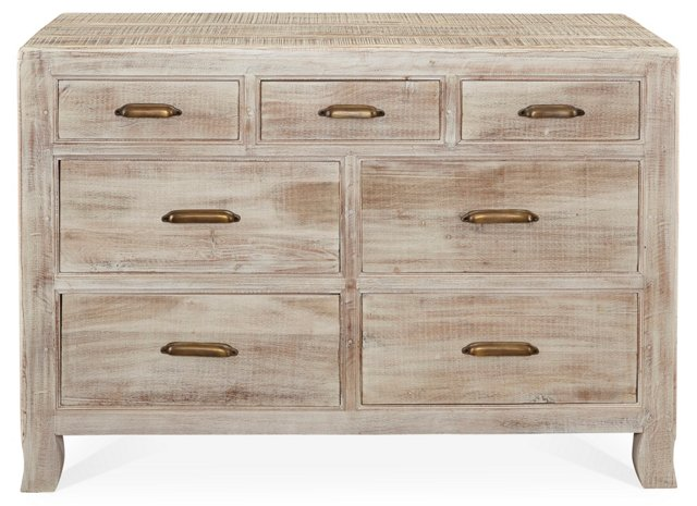 Hester 7-Drawer Dresser, Gray