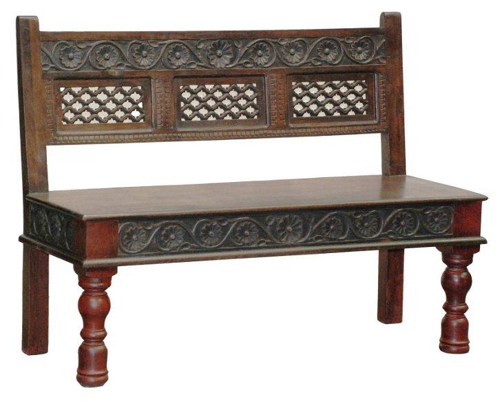 Kaduna Carved Bench