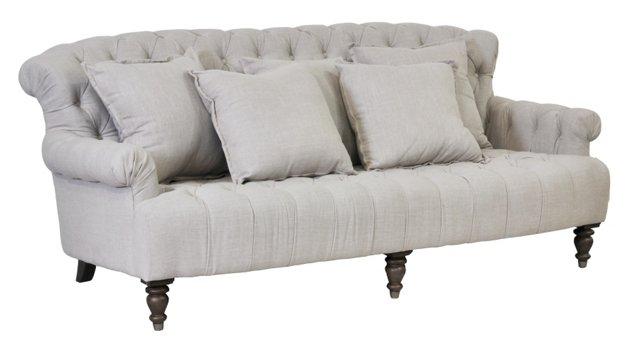 """Penley 89"""" Sofa, Slate"""