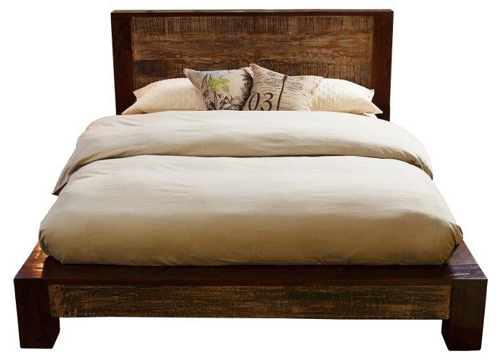 Dakota Reclaimed Bed, Queen