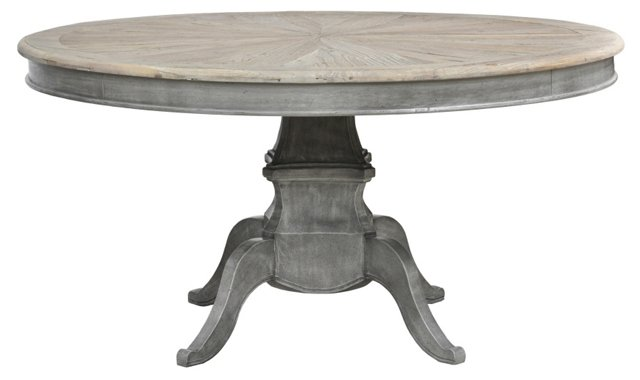 """Wesley 59"""" Round Dining Table, Reclaimed"""