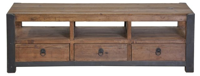 Roberts 3-Drawer Coffee Table, Pecan