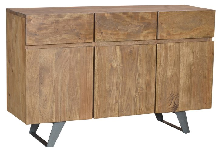 """Hudson 3-Drawer 58"""" Sideboard"""