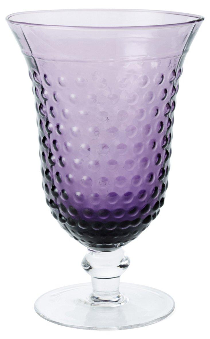 S/4 Beaded Water Glasses, Purple