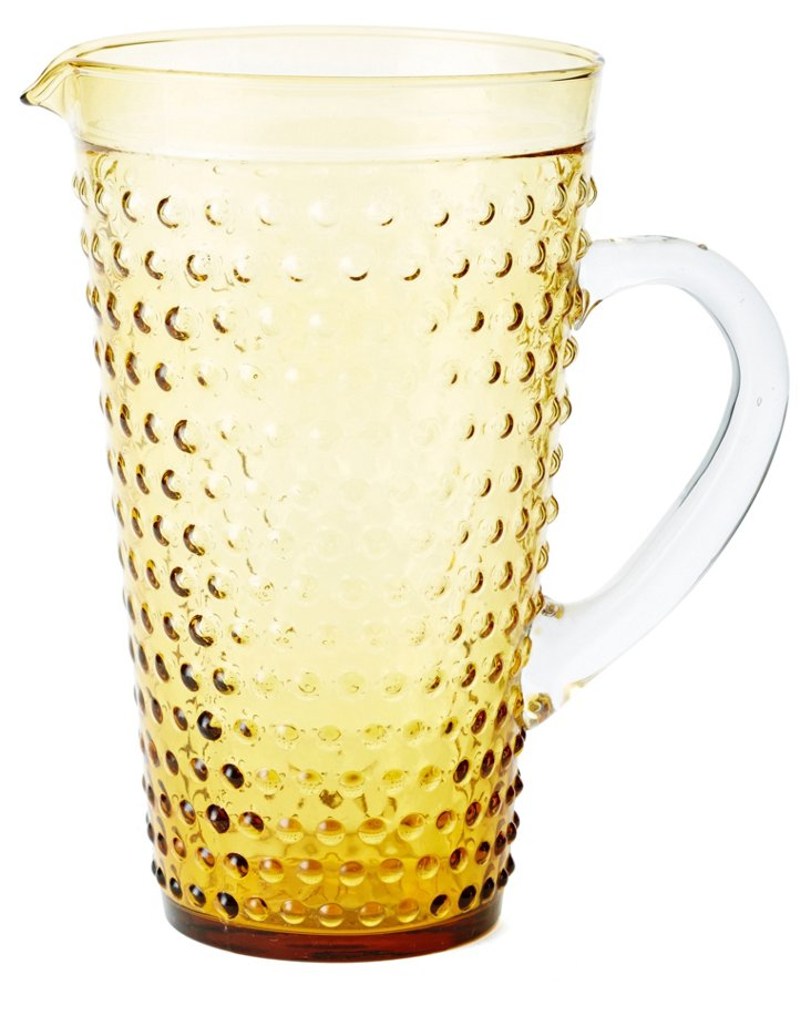 Beaded Pitcher, Yellow