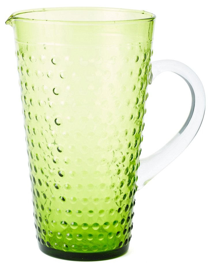 Beaded Pitcher, Green