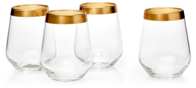 S/4 Villa Maria Stemless Wineglasses