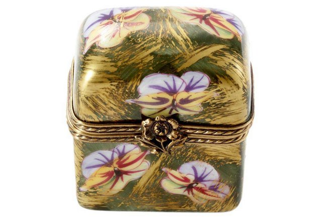 Floral Trunk Box with Perfume Bottles