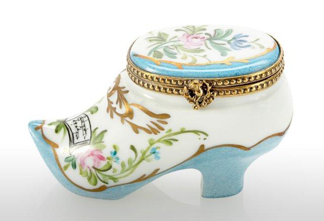 Blue Shoe Limoges Box