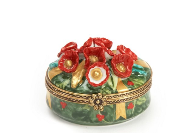 Red Floral Box