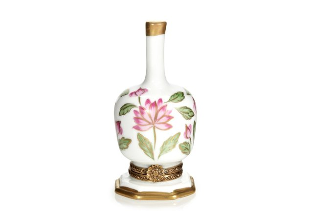 "3"" Water Lily Vase Limoges Box"