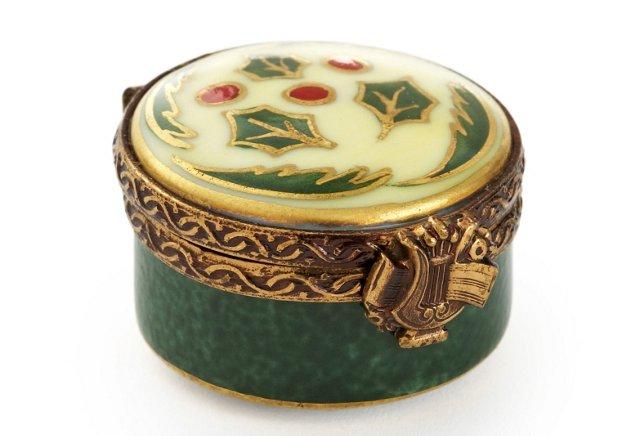 Mini Ivory Holly Box