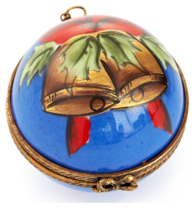 Horn w/ Bells Ornament Box