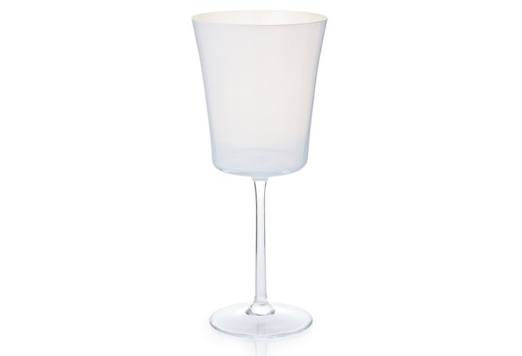 S/4 Crystal Water Goblets, White