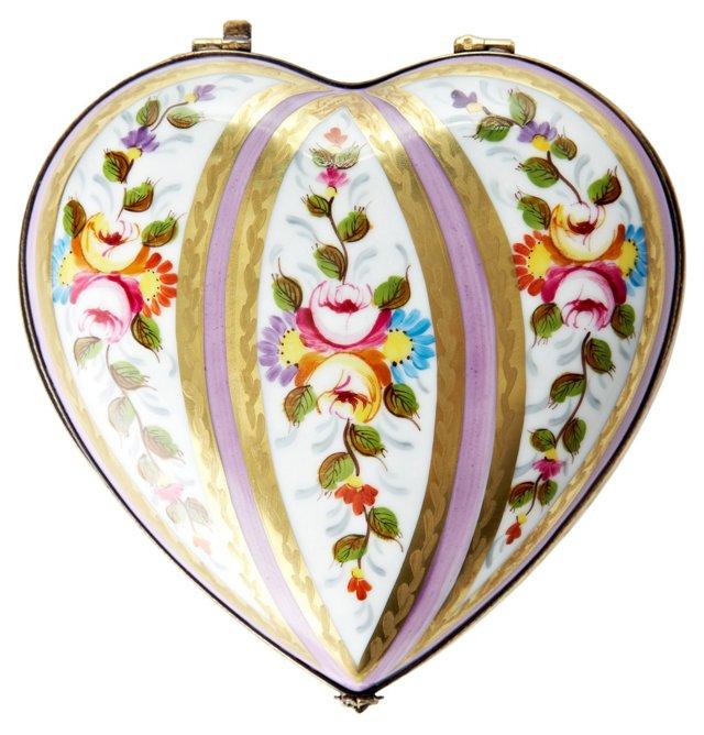 Vieux Paris Heart Limoges Box