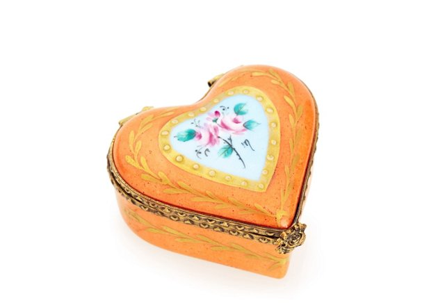 Orange Heart Box