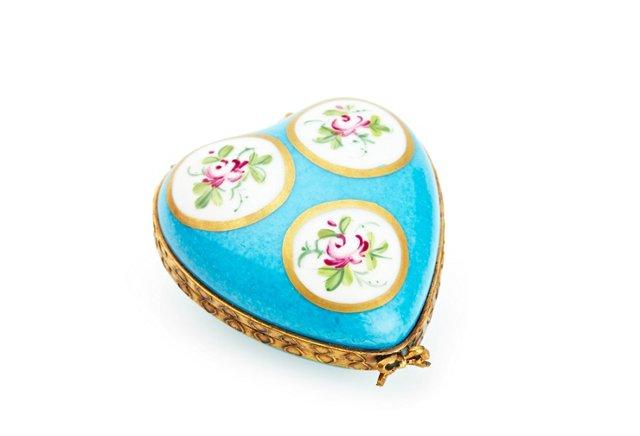 Turquoise Heart Box