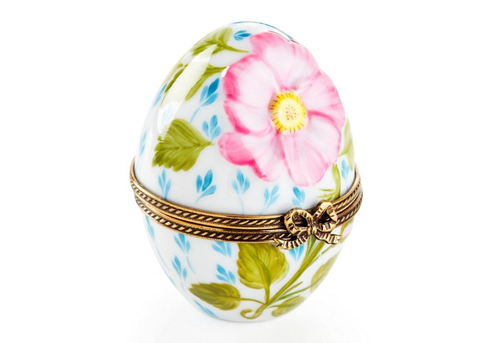 Elegant Egg-Shaped Box