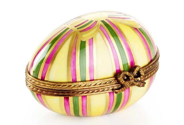 Ribbon Egg-Shape Box